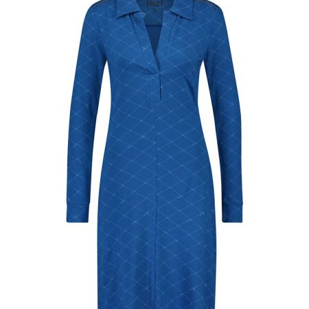 Iez! fairfashion jurk blauw biokatoen organic cotton kx6xWF-g.jpeg