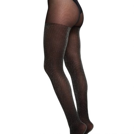 Swedish Stockings lisa lurex rib tights